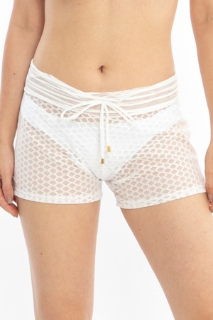 Shorts Renda Off White