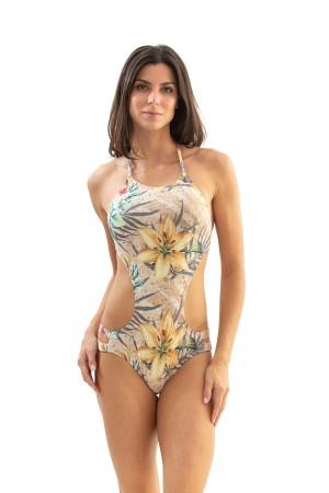Body Tiras Floral Nude