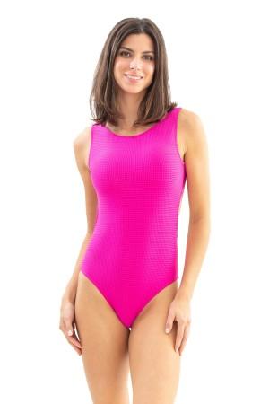 Body Básico Pink Jacquard