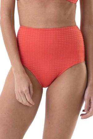 Calcinha Hot Pant Laranja Jacquard