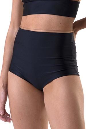 Calcinha Hot Pant Dupla Face Bicolor Preto/Caramelo