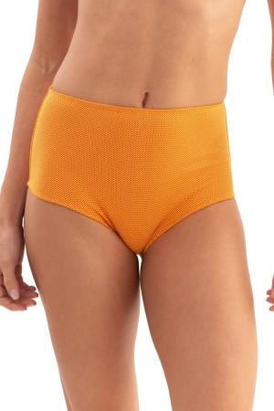 Calcinha Hot Pant Amarelo Jacquard