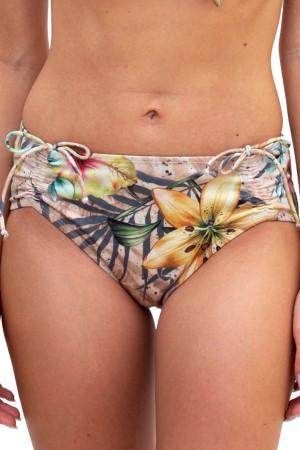 Calcinha Sunguinha Floral Nude